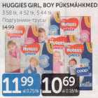 Mähkmed - HUGGIES GIRL, BOY PÜKSMÄHKMED