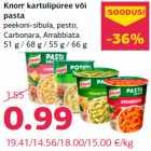 Allahindlus - Knorr kartulipüree või pasta