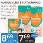 Mähkmed - PAMPERS SLEEP&PLAY MÄHKMED