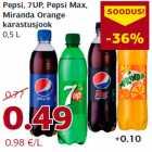 Pepsi, 7UP, Pepsi Max, Miranda Orange karastusjook 0,5 L