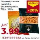 Allahindlus - Germund Premium mandlid ja pistaatsiapähklid