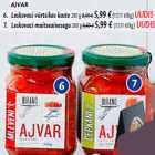 Allahindlus - AJVAR 6. Leskovaci vürtsikas kaste 280 g; 7. Leskovaci maitseainesegu 280 g