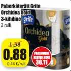 Allahindlus: Paberkäterätt Grite Orchidea Gold 3-kihiline