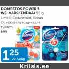 Allahindlus - DOMESTOS POWER 5 WC-VÄRSKENDAJA 55 g