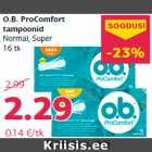 O.B. ProComfort tampoonid