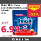 Allahindlus: Finish All in 1 Max Lemon nõudepesumasina tabletid 42 tk